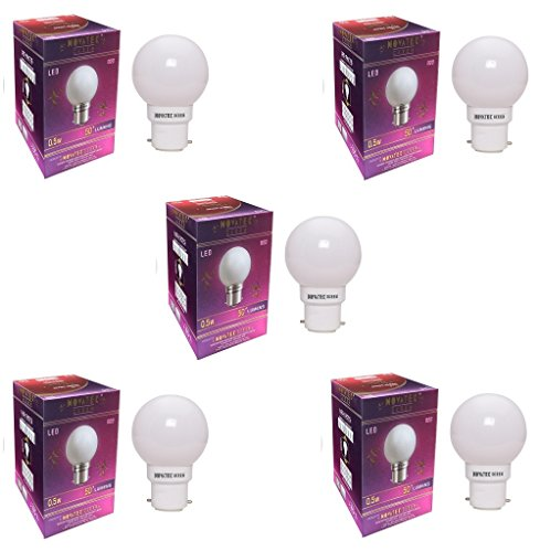0.5W-LED-Bulb-(White,-Pack-of-5)