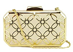 BIG BUDDHA Sweetie Clutch, White, One Size