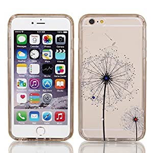 Plastic Dandelion Print Case Cover w Bumper Frame for iPhone 6 Plus