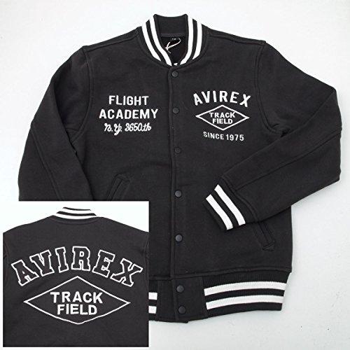"""AVIREX アヴィレックス(アビレックス) 6143536 トラックフィールド スウェット スタジアムジャケット AWARD SWEAT """"TRACK FIELD"""" (XL, 09 ブラック)"""