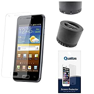 Qualitas Ultra Clear Anti-Glare Anti-Scratch Anti-Fingerprint Screen Protector for Micromax Canvas Sliver 5 Q450 + Wireless Bluetooth Speaker with Mic and microSD Support