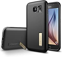 Galaxy S6 Case, Spigen® [Non-Slip] Galaxy S6 Case Kick Stand **NEW** [Capsule Solid] [Black] Premium Flexible Soft TPU with Kick Stand Feature Case for Galaxy S6 (2015) - Black (SGP11436)