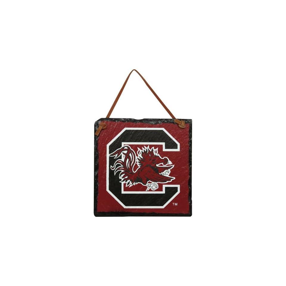 NCAA South Carolina Gamecocks Garnet Square Slate Hanging Sign