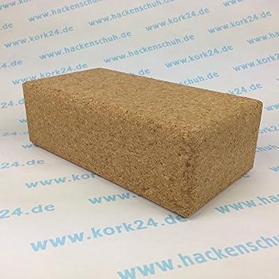 Kork Yoga Block 227 x 120 x 65mm - natürlicher Yoga Block aus Kork - rutschsicher und natürlich