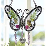 Mom Butterfly Mother Suncatcher with Pressed Flower Wings - Butterfly Suncatcher - Mom Gifts - Gifts for Mom - Gifts for Mothers
