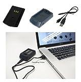 PowerSmart Digital Camera/Camcorder/Video/Photo/Photograph USB Battery Charger/Power Adapter for UK Olympus Stylus 1 Olympus E Series E-400, E-420, E-450, E-600, E-620, E-P1, E-P2, E-P3, E-PL1, E-PL1s, E-PL2, E-PL3, E-PL5, E-PM1, E-PM2, EVOLT E-410