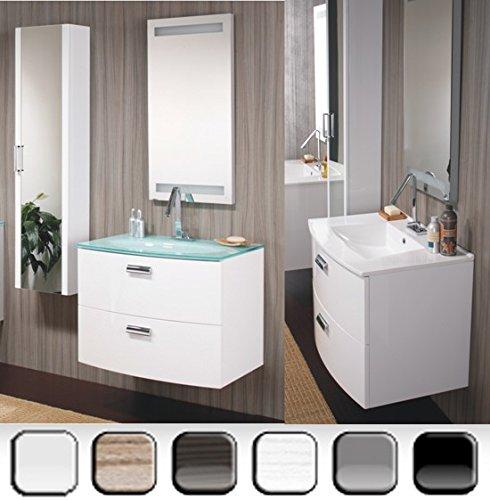 Mobile Arredo Bagno 74cm sospeso lavabo ceramica moderno disp. in 10 colori Mobili