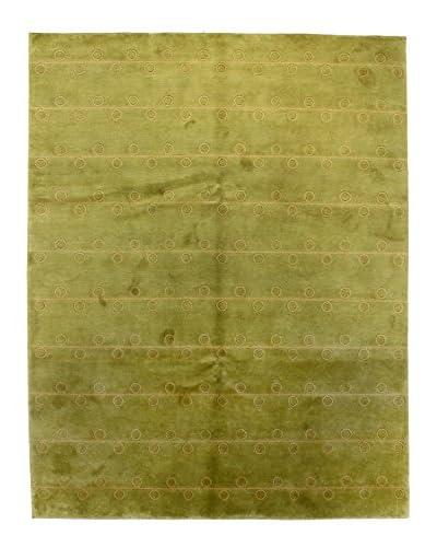 Bashian Rugs Hand Knotted One-of-a-Kind Tibetan Rug, Light Green, 7' 10 x 10'