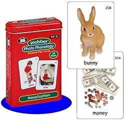 Webber Photo Phonology Nasalization Minimal Pair Card Deck - Super Duper Educational Learning Toy for Kids
