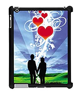 Fuson 2D Printed Valentine Wallpaper Designer Back Case Cover for Apple iPad 4 - D714
