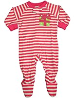 Sara's Prints - Baby Girls Long Sleeve Footed Coverall