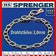 "HS Sprenger Halskette EDELSTAHL ROSTFREI HOCHGLANZPOLIERT Typ ""Medium"" Drahtst�rke: 3,0mm, L�nge 44cm, Art. 51541 044 55"