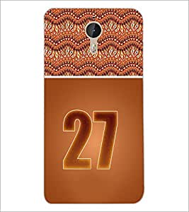 PrintDhaba Numerology Number 27 D-3662 Back Case Cover for LETV (LE ECO) LE 1 PRO (Multi-Coloured)