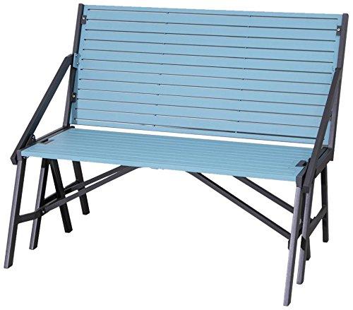 Siena Mybalconia 980942 FlipFlop Bench,anthrazit/sky-blue Stahl/anthrazit/sky blue günstig bestellen
