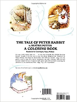 The Tale Of Peter Rabbit Coloring Book Dover Classic Stories Coloring Book Beatrix Potter