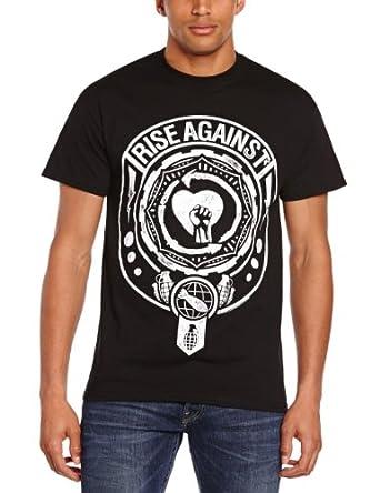 Plastic Head Men's Rise Against Bombs Away Short Sleeve T-Shirt, Black, Small