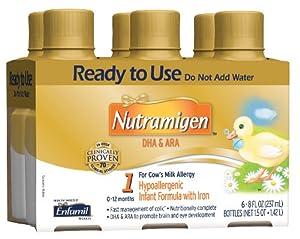 Nutramigen Formula for Cows Milk Allergy, Bottles, 8 Ounce 6 Count