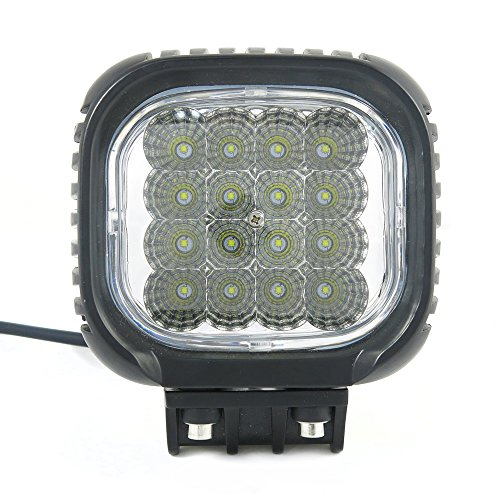 48W Cree Led Work Lights Combo Beam Round For Jeep Cabin/Boat/Suv/Truck/Car/Atv/Vehicles/Automative/Jeep/Marine Off-Road Bulb Lamp Light Fog Lighting Exterior/Interior