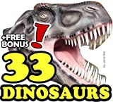 The 33 Greatest Dinosaurs: A Kids Learn to Read Animal Picture Book with Real Fossils and Large Photos (Free Bonus: 30+ Free Online Kids Jigsaw Puzzle ... (33 Animals | Animal Fact Books for Kids)