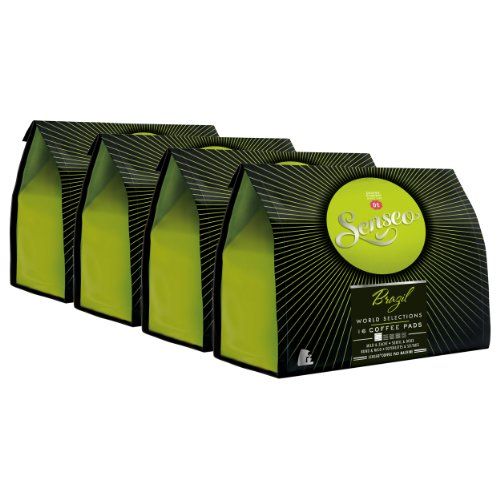 Get Senseo Brazil, New Design, Pack of 4, 4 x 16 Coffee Pods by Douwe Egberts