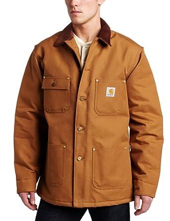 Carhartt Men's Big & Tall Duck Chore Coat, Brown, Medium Tall