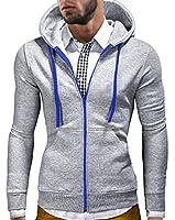 MT Styles - Pull à capuche veste S-131