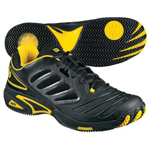 2 cheap wilson tour vision s tennis shoe black gold