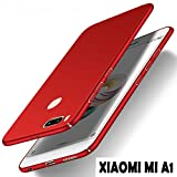 #9: Johra® Mi A1 Back Cover 4 Cut All Sides Protection Sleek Ipaky Red Hard Case Back Cover For Xiaomi Mi A1 - Mi A1 Back Cover