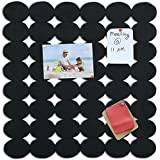 Marine Pearl Stylish Photo Collage Display Pin Up Board - Designer Wall Hanging For Home & Office - 1.5 X 1.5 Feet (Black)