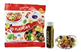 Jelly Belly Bigbean Assorted Jelly Bean Dispenser with a 3.5 Oz. Bag of 20 Assorted Jelly Bean Flavors and a Jarosa Organic Chocolate Bliss Lip Balm