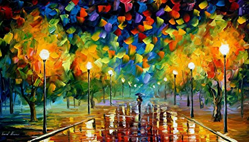 Modern Art Canvas Wall Art Tricks Of The Summer Palette Knife Painting On Canvas For Home Decor 16X12In 40X30Cm Unframed