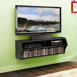 Umax Wall Mounted Console for Audio and Video (Black)
