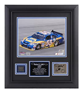 Michael Waltrip Framed 8 x 10 Photograph with Autographed Plate and Tire-Limited... by Sports Memorabilia