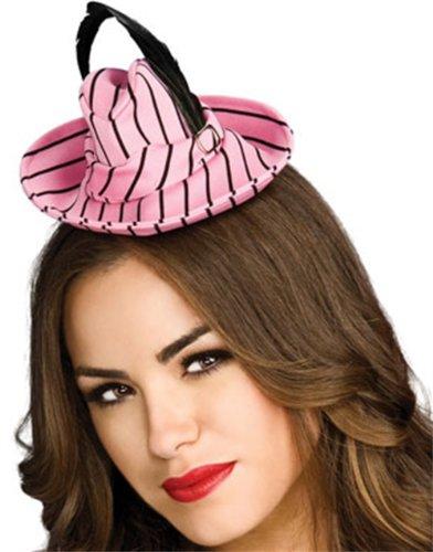 Rubie's Costume Co Blk/Pink Mini Fedora Hat Costume