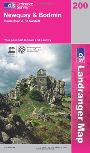 Newquay and Bodmin, Camelford and St.Austell (Landranger Maps) 200 (OS Landranger Map)