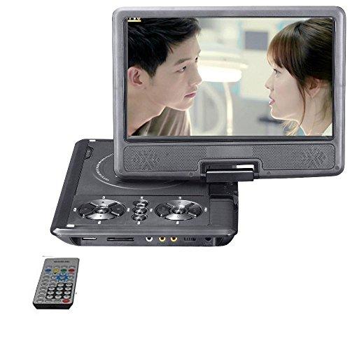 LONPOO Lettore DVD portatile TFT LCD schermo digitale multimediale con lettore DVD e display LCD, supporta scheda SD e USB, Direct Play Supporto DVD/CD/MP4- 9inch