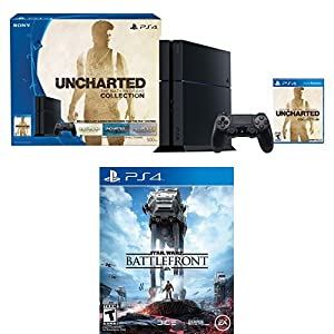 500GB PlayStation 4 Console - Uncharted: The Nathan Drake Collection Bundle with Star Wars Battlefront