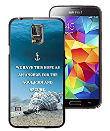 buy Galaxy S5 Case Personalized Design Ftfcase (Tm) Samsung Galaxy S5 Pc Black Cell Phone Case Quotes We Have This Hope As An Anchor For The Soul,Firm And Secure.
