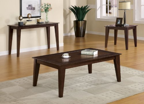 Image of Aury End Table in Dark Brown Finish (B003XRFRNC)