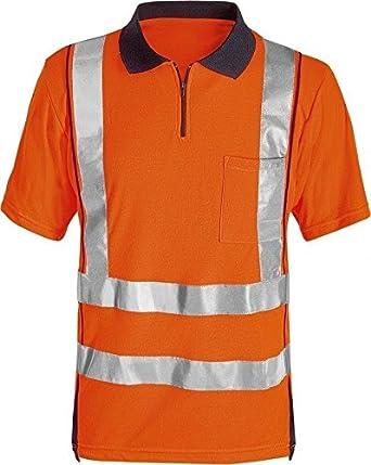 Fristads hi vis polo shirt orange with pocket for Hi vis polo shirts with pocket