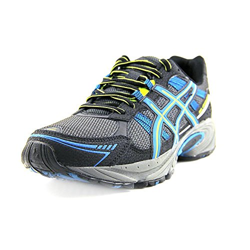 ASICS Women's GEL-Venture 4 Trail Running Shoe (8 B(M) US, Black/Teal/Lime)