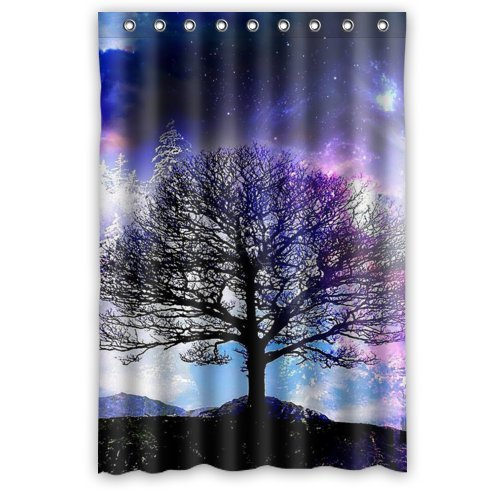 Durable Tree of Life Theme 100% Polyester Waterproof Shower Curtain