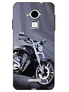 Snazzy Bike Printed Blue Hard Back Cover For CoolPad Note 3