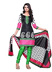 Women`s MultiColour Cotton Printed Dress Material