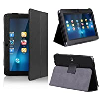 NSSTAR Folio Stand Faux Leather Case Cover Flip Protection Guard Case Cover Only for 7 Inch Android Tablet Q88 (Black) from NSSTAR
