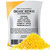100% Organic Yellow Beeswax Pellets 1lb (16 oz) Premium...
