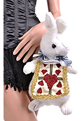 Rabbit Purse (White/Gold;One Size)