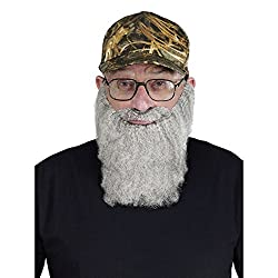 FunWorld Duck Hunter Disguise, Hat, Glasses, and Grey Beard, One Size Costume