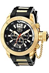 Invicta Signature II Russian Diver Black Dial Chronograph Mens Watch 7427