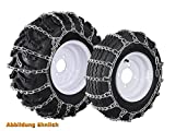 Set of Snow Chains for Small Machines Ladder-Type Chains 24x8.50 - 12/24x8.00 - 14/23x9.50 12/21x11.00/22x10/22x10 10/20X10.5 12/21x10.5